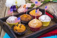 Festa dell'indipendenza americana, celebrazione, concetto di patriottismo - MU Fotografia Stock
