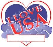 Festa dell'indipendenza americana - disegno di figura del cuore degli S.U.A. Fotografia Stock Libera da Diritti