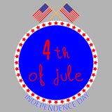 Festa dell'indipendenza del distintivo Fotografia Stock Libera da Diritti