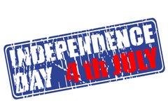 Festa dell'indipendenza del timbro di gomma di U.S.A. Fotografia Stock