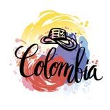 Festa dell'indipendenza dell'illustrazione di vettore della Colombia Immagini Stock