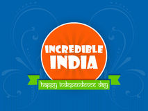 Festa dell'indipendenza dell'India Fotografia Stock Libera da Diritti