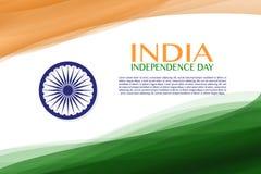 Festa dell'indipendenza dell'India quindicesimo di augusto Immagine Stock Libera da Diritti