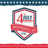 Festa dell'indipendenza dell'insieme del manifesto degli Stati Uniti Immagini Stock