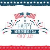 Festa dell'indipendenza dell'insieme del manifesto degli Stati Uniti Immagini Stock Libere da Diritti