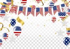 Festa dell'indipendenza della progettazione del modello dell'insegna di vendita degli S.U.A. illustrazione vettoriale