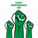 Festa dell'indipendenza di progettazione del Pakistan Immagini Stock