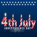 Festa dell'indipendenza di U.S.A., quarta luglio, di quarto luglio (di arte di vettore) illustrazione vettoriale