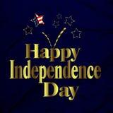 Festa dell'indipendenza felice Fotografie Stock