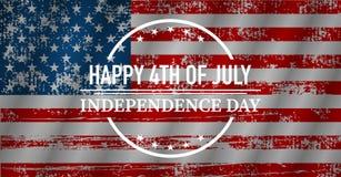 Festa dell'indipendenza felice, bandiera S.U.A., illustrazione di vettore illustrazione vettoriale