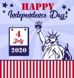 Festa dell'indipendenza felice illustrazione vettoriale