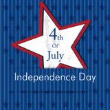 Festa dell'indipendenza felice il quarto luglio. Fotografia Stock Libera da Diritti