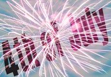 Festa dell'indipendenza felice - quarta di luglio Immagine Stock