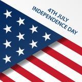 Festa dell'indipendenza felice Stati Uniti d'America il quarto luglio Fotografia Stock