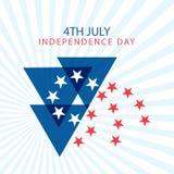 Festa dell'indipendenza felice Stati Uniti d'America il quarto luglio Fotografia Stock Libera da Diritti