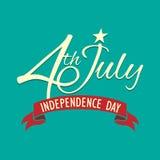 Festa dell'indipendenza felice Stati Uniti d'America, quarti di luglio Immagini Stock Libere da Diritti