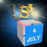 Festa dell'indipendenza, illustrazione 3D Fotografie Stock
