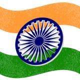 Festa dell'indipendenza dell'India 15 colori di August The della bandiera sono verdi, bianco, zafferano Ruota blu con 24 raggi Immagini Stock