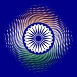 Festa dell'indipendenza dell'India 15 colori di August The della bandiera sono verdi, bianco, zafferano Ruota blu con 24 raggi Immagine Stock