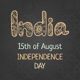 Festa dell'indipendenza indiana, il 15 agosto Fotografie Stock Libere da Diritti