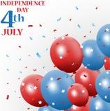 Festa dell'indipendenza 4 luglio con il pallone Fotografia Stock Libera da Diritti