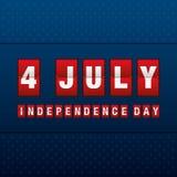 Festa dell'indipendenza 4 luglio Festa dell'indipendenza felice Fotografia Stock Libera da Diritti