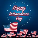 Festa dell'indipendenza 4 luglio Festa dell'indipendenza felice Fotografie Stock
