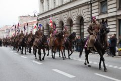 Festa dell'indipendenza polacca l'11 novembre 2010 Fotografia Stock Libera da Diritti