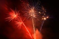Festa dell'indipendenza quarta dei fuochi d'artificio di luglio a Coney Island Brooklyn NY 2017 Immagine Stock Libera da Diritti
