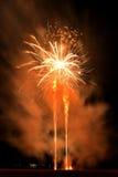 Festa dell'indipendenza quarta dei fuochi d'artificio di luglio a Coney Island Brooklyn NY 2017 Fotografia Stock Libera da Diritti