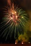 Festa dell'indipendenza quarta dei fuochi d'artificio di luglio a Coney Island Brooklyn NY 2017 Fotografia Stock