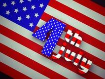 Festa dell'indipendenza Stati Uniti Fotografia Stock