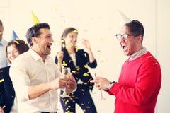 Festa dell'ufficio del nuovo anno immagine stock