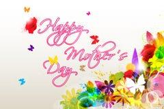 Festa della Mamma felice floreale illustrazione di stock