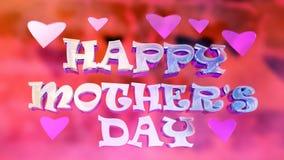 Festa della Mamma felice Logo Design vivo Immagini Stock Libere da Diritti