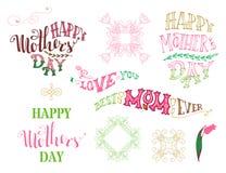 Festa della Mamma felice! Migliore mamma mai Ti amo Immagine Stock Libera da Diritti