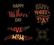 Festa della Mamma felice! Migliore mamma mai Ti amo Immagini Stock