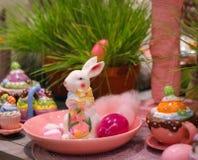 festa della molla del coniglietto della decorazione di pasqua Fotografia Stock