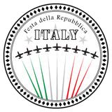 Festa della Repubblica. National holiday in Italy. Vector illustration Stock Images
