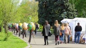 Festa della via del festival di Pasqua Fotografia Stock