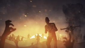 Festa dello zombie al ciclo di tramonto 4K archivi video