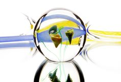Festa di astrazione della luce dello specchio di vetro Fotografia Stock
