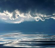 Festa di cielo sul mare Immagine Stock