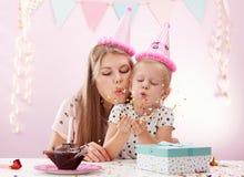 Festa di compleanno a casa Fotografie Stock Libere da Diritti