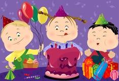 Festa di compleanno di vettore Illustrazione di Stock