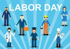 Festa di festa del lavoro illustrazione di stock