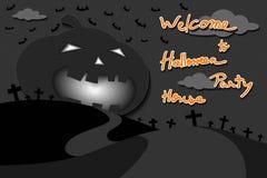 Festa di Halloween nel cimitero Illustrazione di Stock