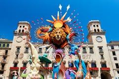 Festa di Hogueras in Alicante Fotografia Stock Libera da Diritti