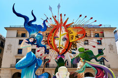 Festa di Hogueras in Alicante Fotografie Stock Libere da Diritti