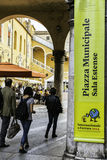 Festa di Internazionale à Ferrare : Municipale de Piazza, estense de sala Photographie stock